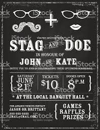 blackboard theme stag and doe engagement party invitation design