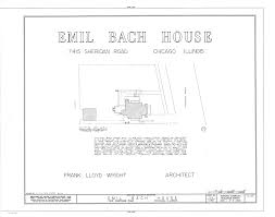 frank lloyd wright font free file emil bach house 7415 north sheridan road chicago cook