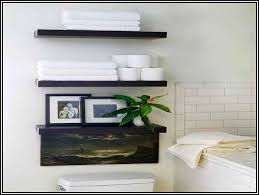 Shelves For Towels In Bathrooms Bathroom Wall Shelves Free Home Decor Oklahomavstcu Us