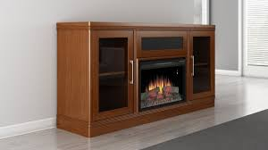 Electric Fireplace Tv Stand Electric Fireplace Tv Stand In A Light Cherry Finish Furnitech