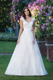 style 3912 beaded appliqué lace a line ball gown with cap sleeves