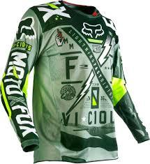 fox motocross shirt 32 95 fox racing mens 180 vicious jersey 235434