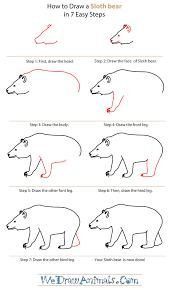 draw sloth bear