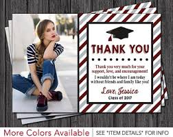 graduation thank you card graduation thank you cards etsy