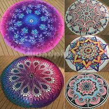 indian ombre mandala round tapestry beach throw blanket yoga mat