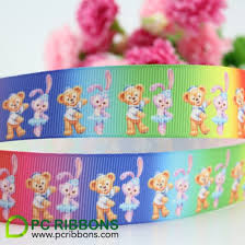 printed grosgrain ribbon hot sale 22mm custom rainbow printed grosgrain ribbon 22mm