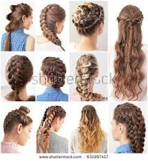 different hair women different hairstyles stock photo 631997417