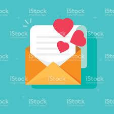 imagenes animadas sobre amor confesión por correo o correo electrónico vector icono plano dibujos