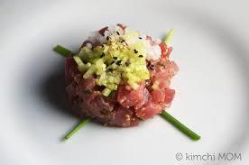 tartare cuisine tuna tartare sundaysupper kimchi