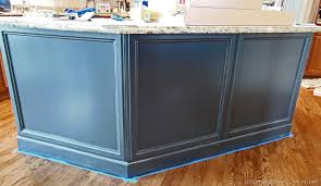 installing kitchen island adding molding to kitchen island
