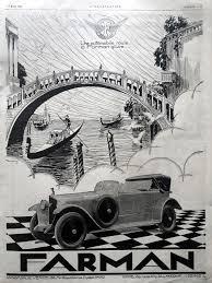 farman automobiles advertising vintage poster original art