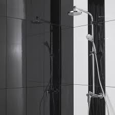 carrelage noir brillant salle de bain faïence mur noir brillant relief l 25 x l 75 cm leroy merlin