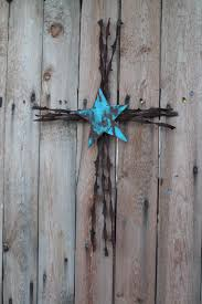 handmade christian wall decor barbed wire cross by jackrabbitflats