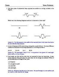 waves and sound practice worksheet name learningxchange