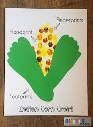 indian corn thanksgiving handprint craft allfreekidscrafts