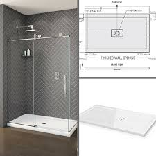 make your stand up shower simple and modern with our concealed
