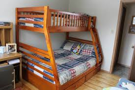 Wood Bunk Bed With Futon Bunk Beds Queen Loft Bed With Desk Wooden Loft Bed With Desk And