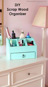 Building A Simple Wooden Desk by Ana White Desktop Office Or Vanity Beauty Organizer Diy Projects