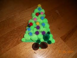 25 days of christmas crafts day 1 pom pom christmas tree super