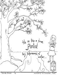 biblical coloring pages preschool free bible coloring pages bible coloring pages by verse psalm 1 free