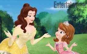 disney u0027s u0027sofia u0027 meets princess belle exclusive clip