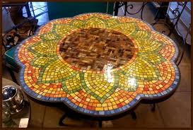 Mosaic Patio Tables And Glass Mosaic Tables