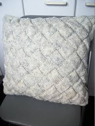 Knitted Cushion Cover Patterns Entrelac Cushion Cover 16 40 5cm Silver Fleck Smoke
