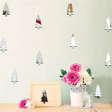 Bedroom Decals For Adults Pine Tree Christmas Tree Decorative Mirror Stickers Bedroom Kids
