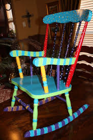 Furniture Wood Rocking Chair Wonderful Best 25 Painted Rocking Chairs Ideas On Pinterest Painted Kids