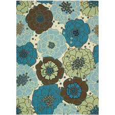 Teal Outdoor Rug Nourison Home And Garden Polyester Indoor Outdoor Rug Light Blue