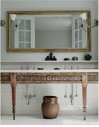 to da loos wood tables as bathroom vanities