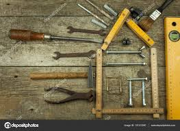 Plans To Build A House Rustic Wooden Background Tools For