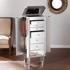 Jewelry Armoire Clearance Amazon Com Margaux Mirrored Jewelry Armoire Jewelry