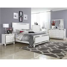 alonza white bedroom set with bling by homelegance furniture