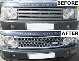 range rover silver silver supercharged grille upgrade kit for range rover l322 2002