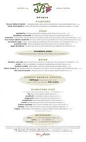 menu for brunch brunch menu jt s
