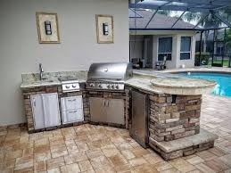 Outdoor Kitchen Covered Patio Kitchen Style Outdoor Kitchens Florida Stone Granite Creative