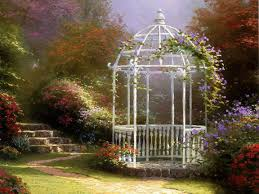 garden gate flowers garden gate floral garden gate thomas kinkade paintings thomas
