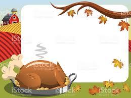 thanksgiving day graphics thanksgiving day horizontal frame roast turkey countryside stock