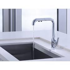 kohler pull out kitchen faucet kohler k 7505 cp purist polished chrome pullout spray kitchen