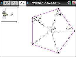 Interior Angles Of Polygon Activity Sum Of Exterior Angles Of Polygons Geometry Ti Math