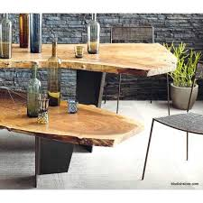 live edge outdoor table roost live edge table tops bases modish store