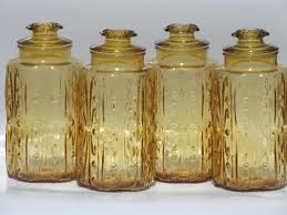 kitchen canisters glass vintage glass canisters kitchen canister jars set of 4
