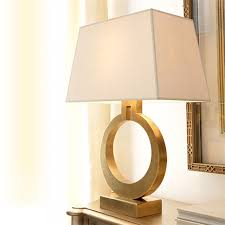 american luxury fashion iron fabric gold edison table lamps
