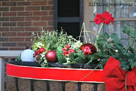 Porch Rail Flower Boxes by Cheery Christmas Flower Boxes For Outdoor Christmas Decorating