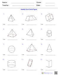 prisms and pyramids surface area worksheets idk pinterest
