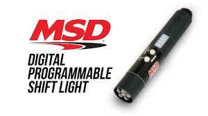 msd programmable digital shift light msd digital programmable shift light youtube