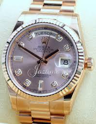 bentley pink diamonds rolex day date president 118235 men u0027s 36mm pink diamond 18k rose