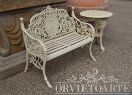 panchine da giardino in ghisa orvieto arte panchina in ghisa due posti con medaglione