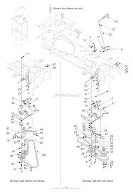 mtd 13aq608h729 2004 parts diagram for pto manual battery frame